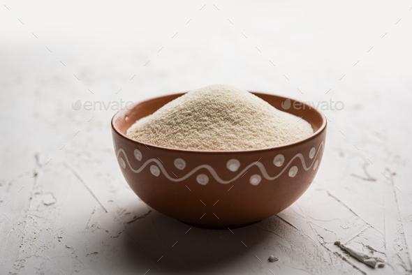 Semolina Flour Or Rava - Stock Photo - Images