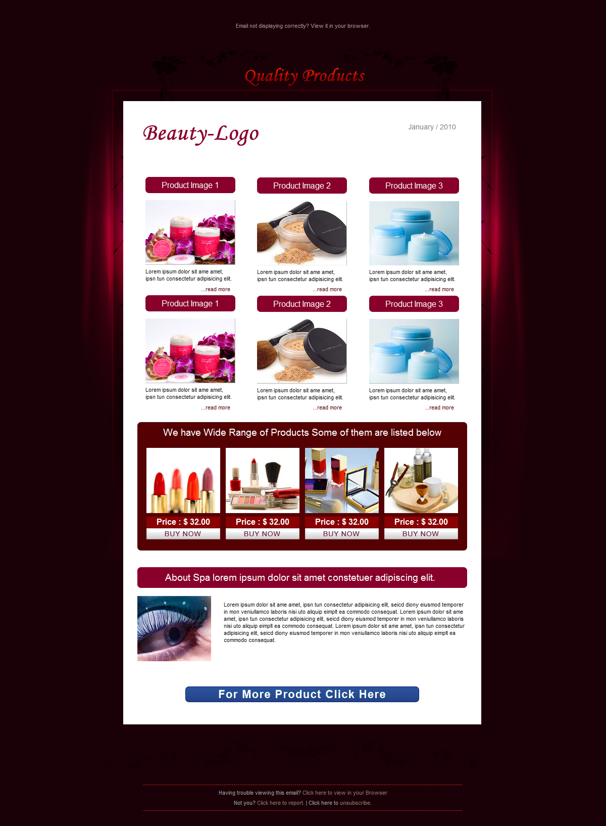 Free Download BEAUTY - Email Template - 6 Layouts Nulled Latest Version