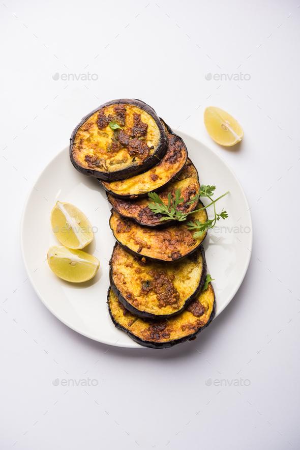 Crispy Brinjal / Baingan Fry - Stock Photo - Images