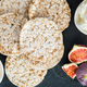 Rice cakes and figs are ready for the healthy snack - PhotoDune Item for Sale