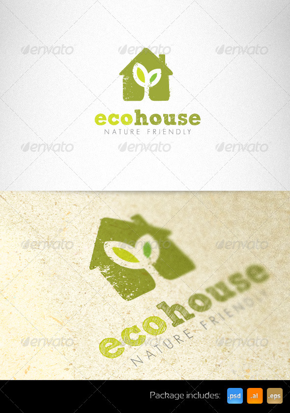 Ecology House Nature Friendly Creative Logo - Nature Logo Templates