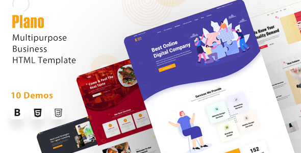Plano - Multipurpose Creative Agency & Business HTML Template