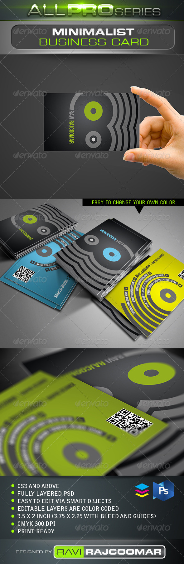 Minimalist Business Card - Business Cards Print Templates