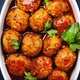 Meatballs with tomato sauce and spices in baking dish - PhotoDune Item for Sale
