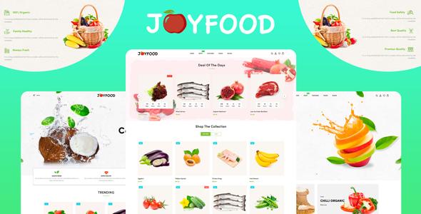 JoyFood – Grocery, Supermarket Organic Food/Fruit/Vegetables eCommerce Shopify Theme