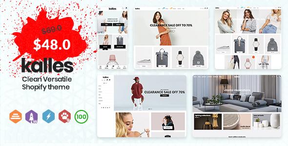 Kalles - Clean, Versatile, Responsive Shopify Theme