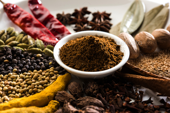Garam Masala / Indian Spices - Stock Photo - Images