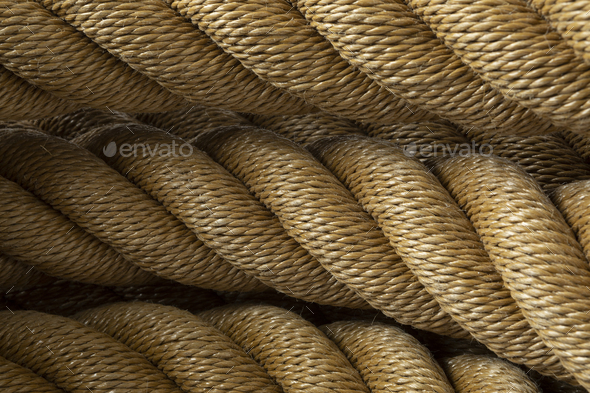 New knotted rope close up - Stock Photo - Images