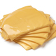 Heap of slices cheddar cheese close up - PhotoDune Item for Sale
