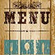 Decorative Menu card. Vector Illustration.  - GraphicRiver Item for Sale
