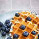 Belgian waffles with fresh blueberries - PhotoDune Item for Sale