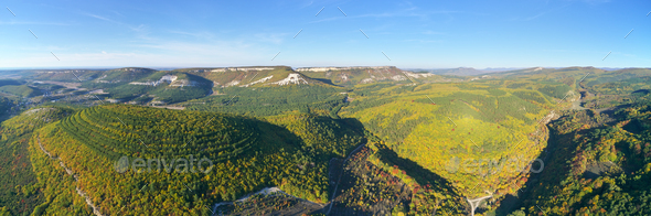 Mountain panorama from drone. - Stock Photo - Images