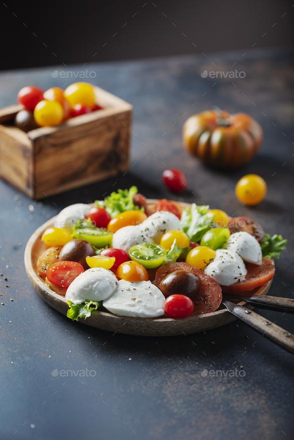 Healthy salad with mozzarella - Stock Photo - Images