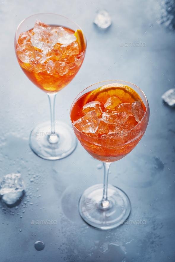 Italian aperitif Aperol Spriz - Stock Photo - Images