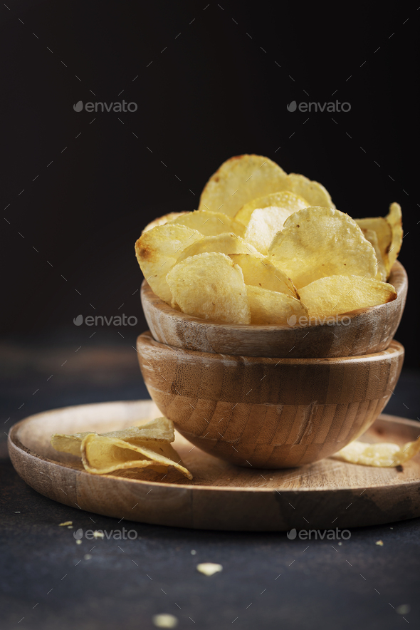 Unhealthy potato chips - Stock Photo - Images