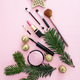 Make-up cosmetic christmas tree against pink background - PhotoDune Item for Sale