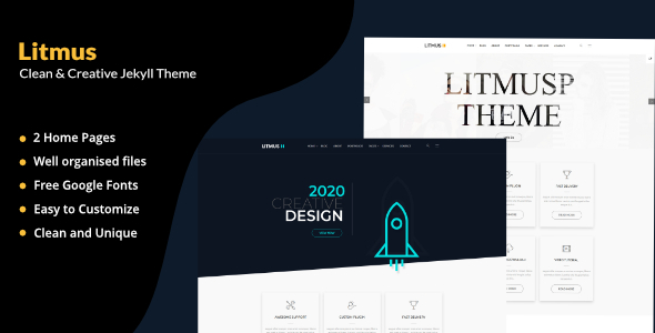 Litmus - Clean Corporate And Blogging Jekyll Theme