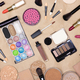 Makeup products and accessories on make-up table - PhotoDune Item for Sale
