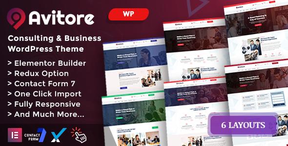 Avitore – Consulting Business WordPress Theme