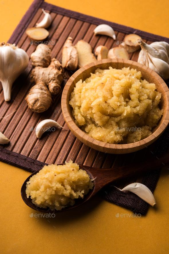 Ginger Garlic paste - Stock Photo - Images