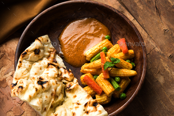 Baby Corn Masala - Stock Photo - Images
