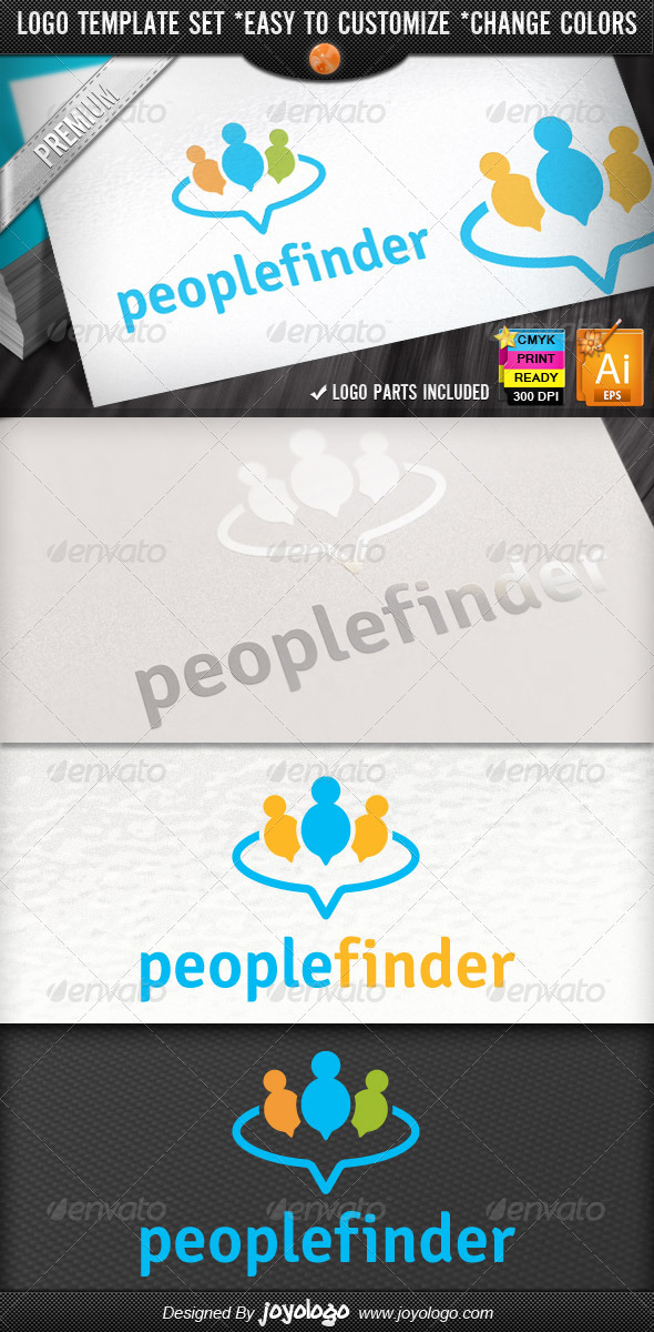 Circle Applications Social Chat People Finder Logo - Humans Logo Templates