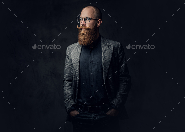 Redhead bearded male in a suit. - Stock Photo - Images