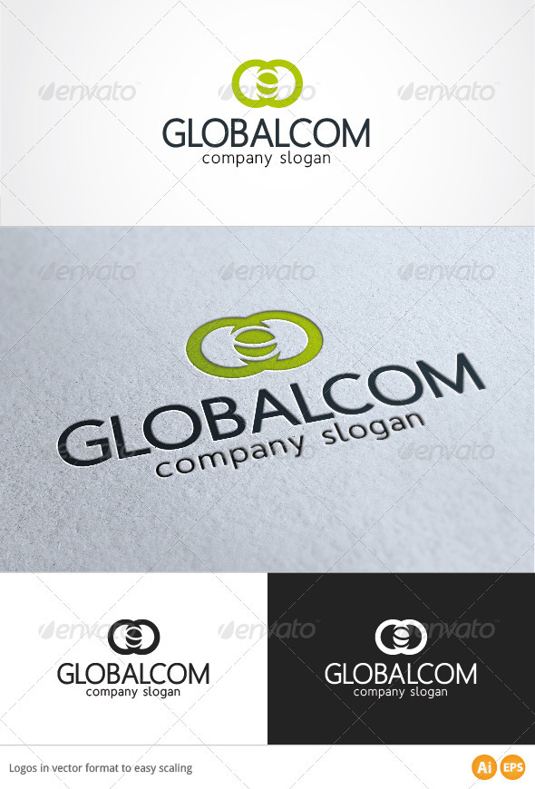 Global Com Logo - Symbols Logo Templates