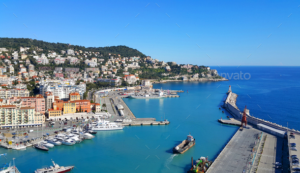 City and Port of Nice in France - Stock Photo - Images