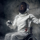Female paralympic wheelchair fencer. - PhotoDune Item for Sale