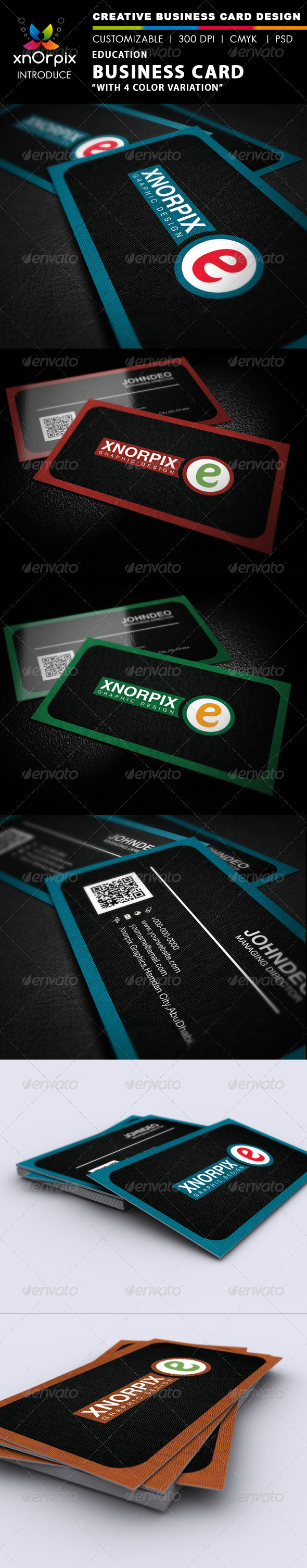 Education Business Card - Corporate Business Cards