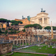 The famous ruins of the Roman Forum  and the Victor Emmanuel II National Monument in Rome - PhotoDune Item for Sale