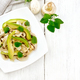 Salad of avocado and champignons on board top - PhotoDune Item for Sale