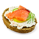 Sandwich with smoked salmon and cream - PhotoDune Item for Sale
