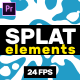 Splat Elements // MOGRT - VideoHive Item for Sale