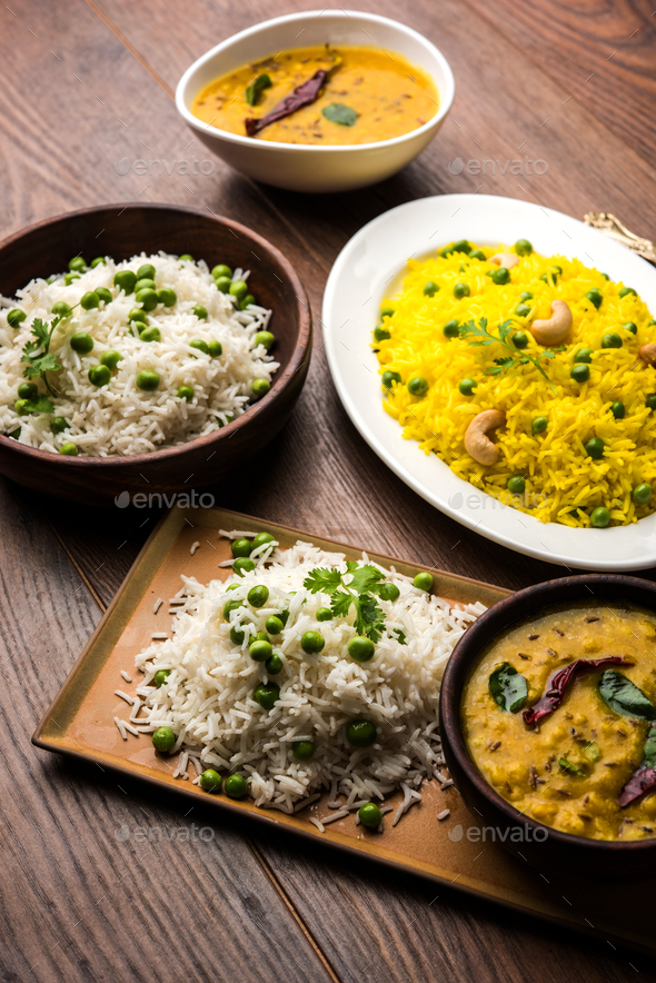 Group Of Rice and Pulao - Stock Photo - Images
