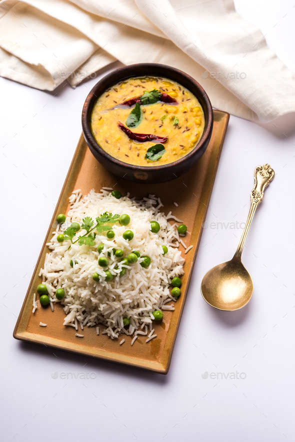 Green Peas Pulao - Stock Photo - Images