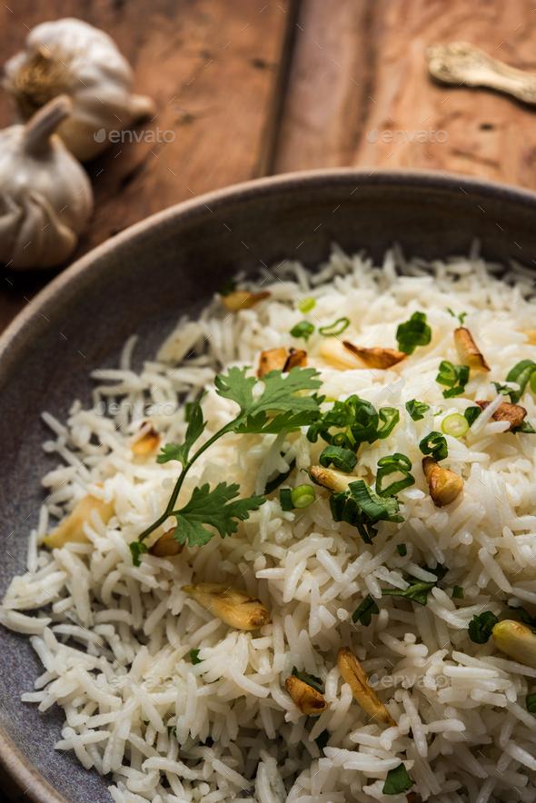 Garlic Fried Rice - Stock Photo - Images