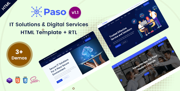 Paso – IT Solutions & Digital Services HTML Template