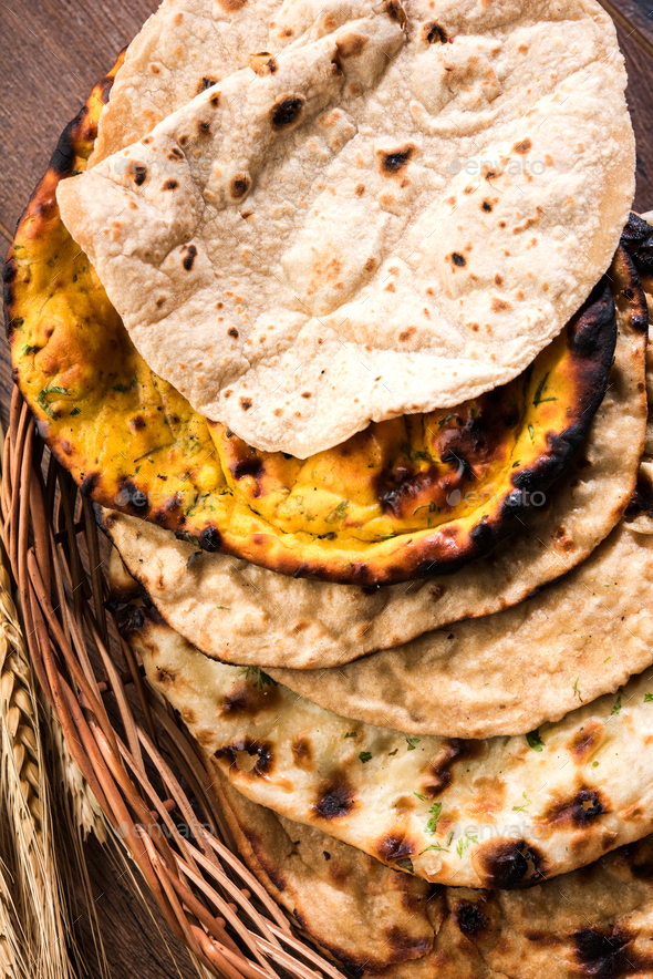 Indian Bread Basket - Stock Photo - Images
