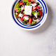 Greek salad of fresh vegetables, olives and feta. Traditional Mediterranean food. - PhotoDune Item for Sale