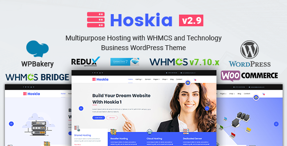 Hoskia | Multipurpose Hosting with WHMCS Theme