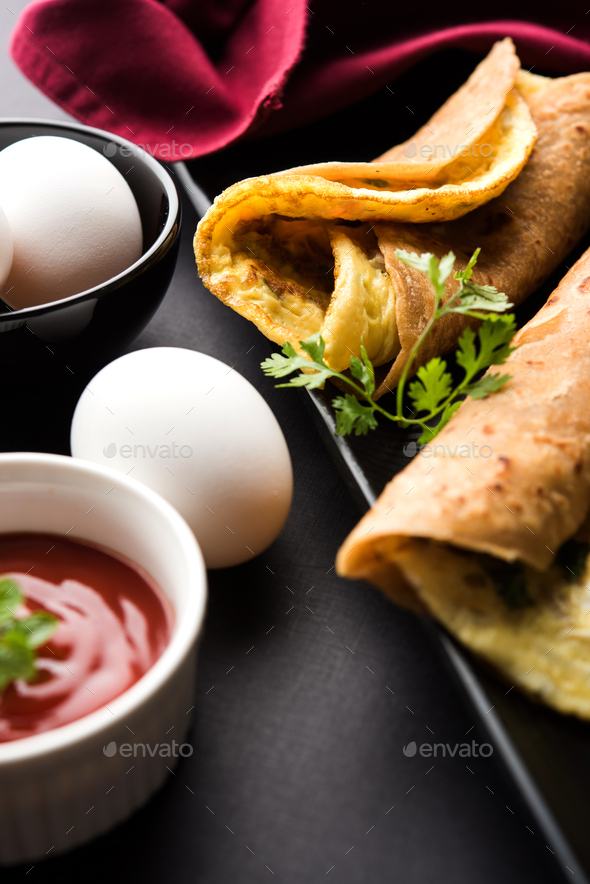 Omelette Chapati Toll - Stock Photo - Images
