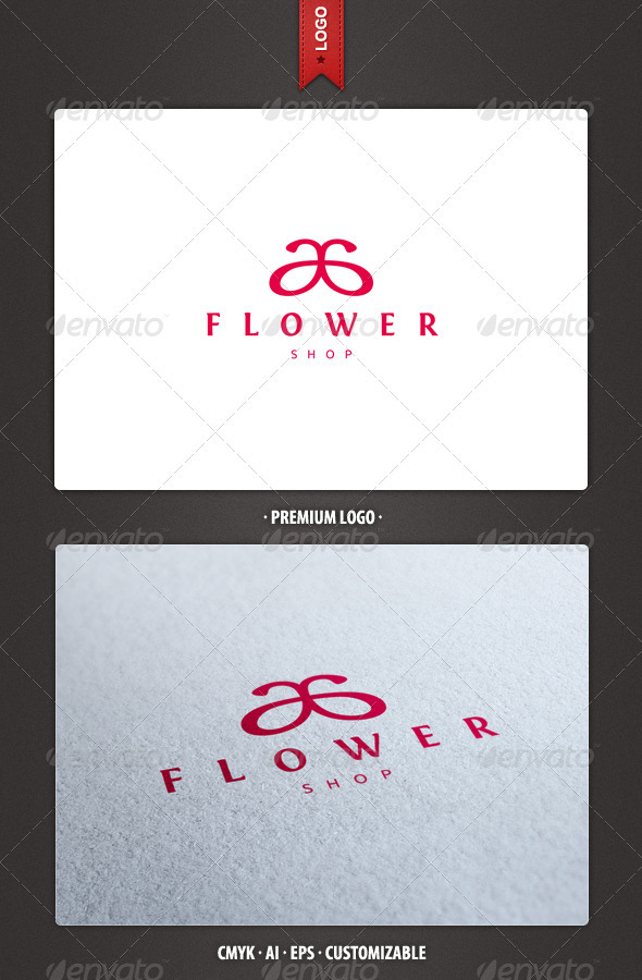 Flower Shop - Abstract Logo Template - Abstract Logo Templates
