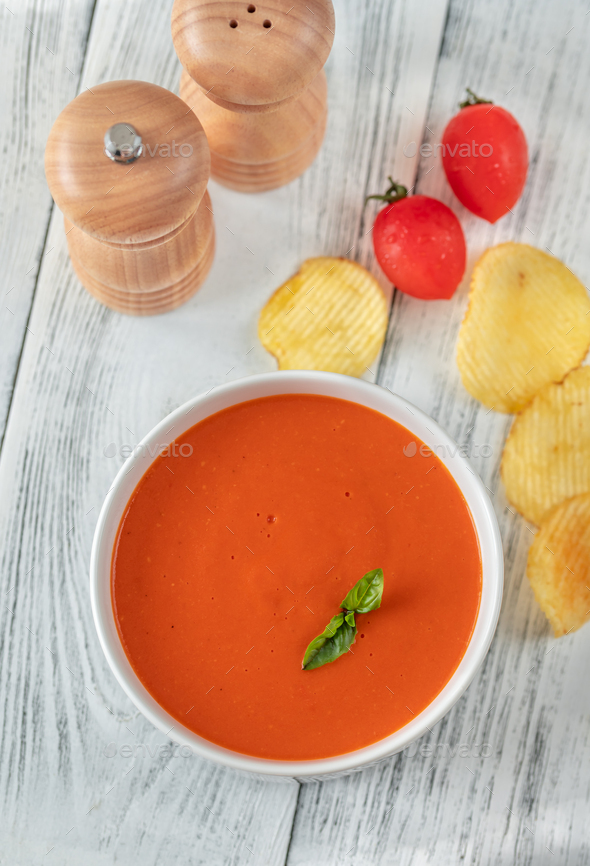 Tomato soup - Stock Photo - Images