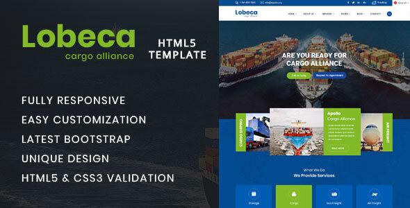 Excellent Lobeca Logistic Cargo HTML5 Template