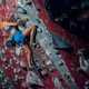 Free climber female bouldering indoors. - PhotoDune Item for Sale