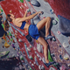 Female climber. Extreme indoor climbing. - PhotoDune Item for Sale