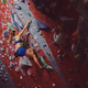 Professional female climber on a bouldering wall. - PhotoDune Item for Sale