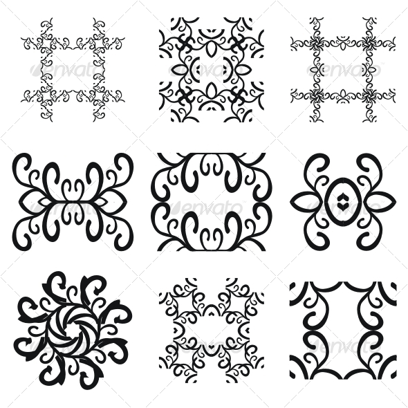 Vector pattern decorations - Decorative Symbols Decorative
